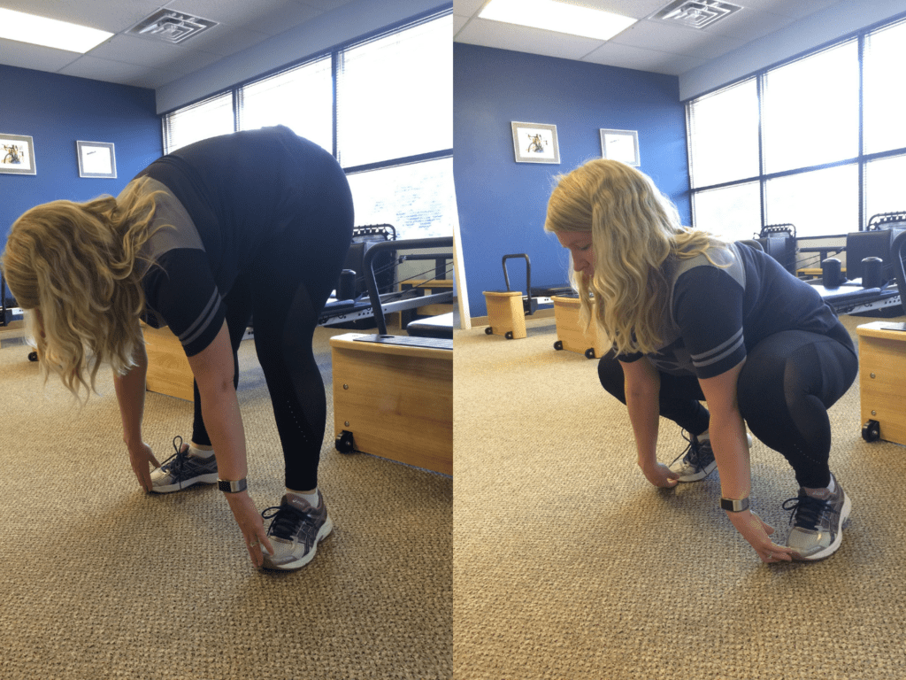 Squat to stand exercise demonstration